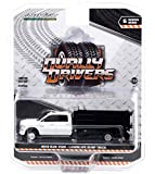 2018 Ram 3500 Dually Landscaper Dump Truck Bright White and Black Dually Drivers Series 6 1/64 Diecast Model Car by Greenlight 46060 D