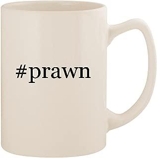 #prawn - White Hashtag 14oz Ceramic Statesman Coffee Mug Cup