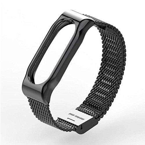 Voor Xiaomi Mi Band 2 Smart Armband RVS Horlogeband Band Metalen Pols