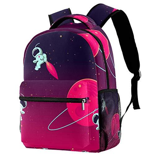 Mochila universo espacial para adolescentes, libros escolares, viajes, mochila informal