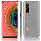 SPAK OPPO Find X2 Pro Case,PU Leather Hard Cover Protection