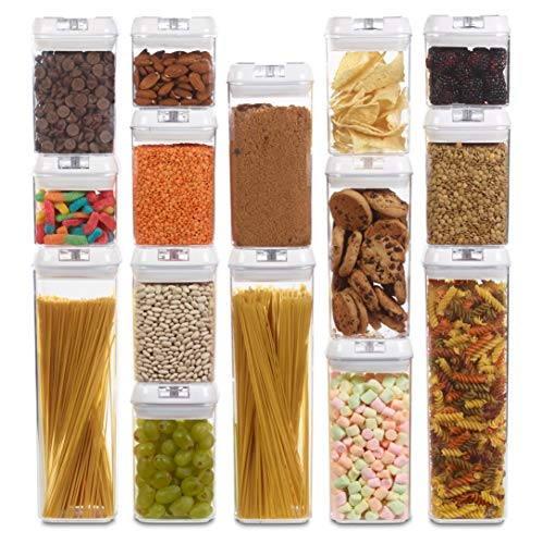 1790 Dry Food Storage Containers - AirTight Containers (15 Pack)