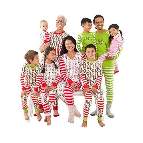 Hanna Andersson Grinch Kids Organic Cotton 2-Piece Long-Sleeve Pajama Set Grinch Mix It Up - 8 US (130 cm)