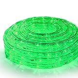 SEIKOH イルミネーションロープライト 50m 緑 LED 1500球 防水 防雨 点灯 点滅 連結 IRMRG050