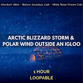 Arctic Blizzard Storm & Polar Wind Outside an Igloo: 1 Hour Loopable