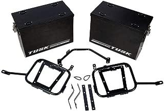 Tusk Aluminum Panniers / Pannier Racks Large Black Yamaha WR250R 08-2016