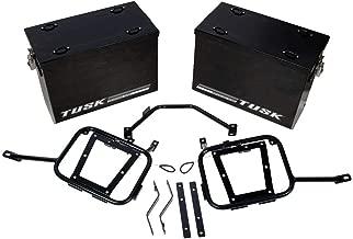 Tusk Aluminum Panniers with Pannier Racks Medium Black - Fits: Suzuki DR650SE 1996-2009