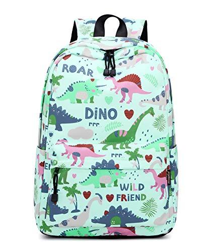 Acmebon Fashion Roomy Cute Backpacks for Teen Girl Children Lightweight School Bookbag Dinosaur