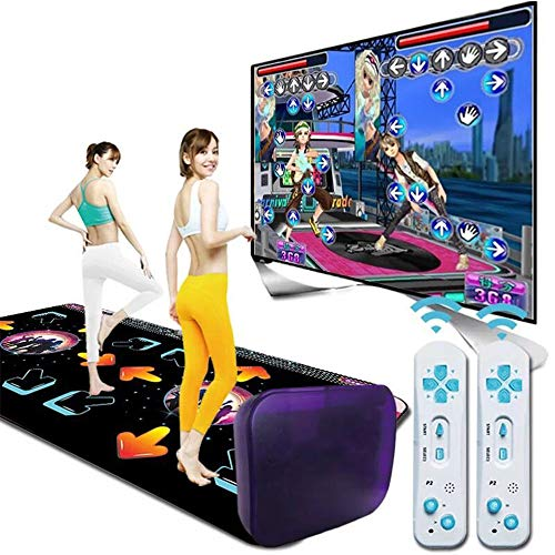 Guoyajf rutschfeste Tanz-Step-Tanzmatte USB HD, TV AV Videospiel Dance Mats Pads, Musikspielmatte für Erwachsene/Kinder, Tanzteppich Double Wireless 3D somatosensorisch