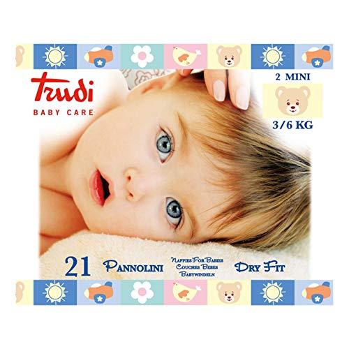 PANNOLINI TRUDI BABY CARE MINI 3/6 Kg CONFEZIONE 6 PZ