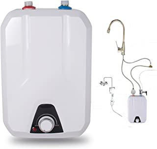 Enshey 110V Electric Water Heater Kitchen Household Electrical 8L Huge-Tank Hot Water, 1500W, IPX4 Water-Proof Level