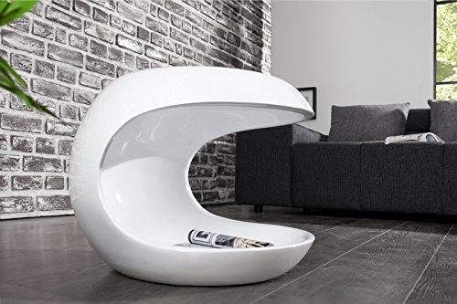 DuNord Design Tavolino da salotto, bianco lucido, moderno, in...
