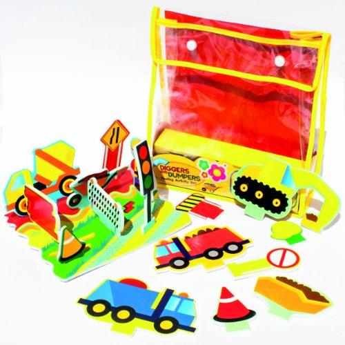 Meadow Kids Prairie Mea-mk037 Enfants pelleteuses et Dumpers Flottant d'activité Ensemble – Multicolore