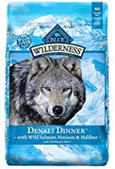 PACKED WITH REAL SALMON: A recipe inspired by the rugged Alaskan wilderness, this high protein dog food features a blend of wild salmon, venison and halibut to satisfy your dog's wild side while helping your dog build and maintain lean muscle mass. H...