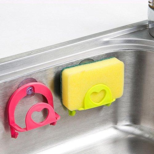 gaddrt Netter Schwamm Halter Saugnapf Bequem Home Küche Halter Werkzeuge Gadget Decor