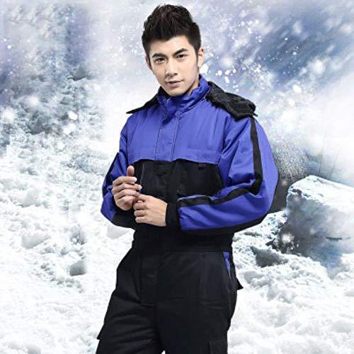 Reflecterend vest veiligheidsvest reflecterende werkkleding winter warmer winddicht overalls outdoor vissen skiën koele kleding lange mouwen overalls X-Large bruin