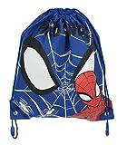 Marvel Disney Spider Man Garçons Filles Enfants Gym Piscine Cordon Sac De Sport (Spiderman Bleu, Taille Unique)