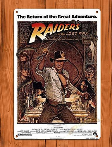 HNFT Blechschild Raiders Of The Lost Ark Vintage Filmkunst Poster Metallschilder Vintage Kneipe Retro Blechschild Wanddekoration für Bar Pub Club dekorative Teller