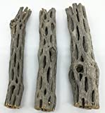 """Awesome Aquatic Natural Cholla/Choya Wood 3 Pieces 6"""" for Shrimp Habitat and Food Treat Hermit Crabs Plecos Aquarium Decoration Lowers pH Hideouts and Chew Toys Reptiles Thorn Free Dried Organic"""
