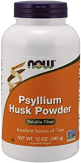 NOW Psyllium Husk Powder, 12-Ounces (Pack of 3)