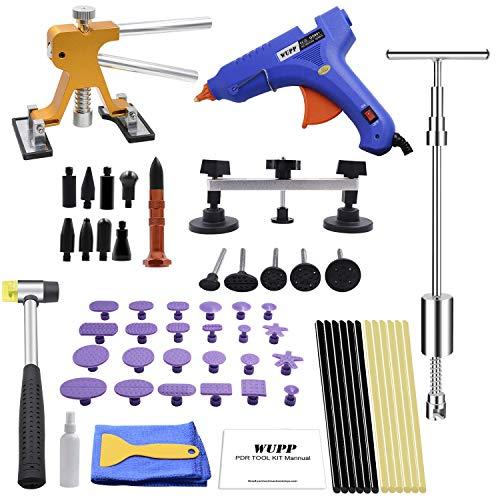 WUPP Paintless Car Dent Repair Tools, Auto Body Dent Removal kit Dent Puller Set for Hail Damage Door Dings Repair