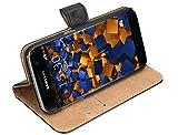 mumbi Echt Leder Bookstyle Hülle kompatibel mit Samsung Galaxy S7 Hülle Leder Tasche Hülle Wallet, schwarz