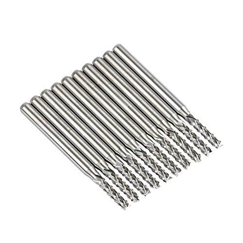 JAP768 10 unids carburo sólido Molino de Molino de Molino de Molino de Molino D0.8, 1.0, 1.6, 1.8, 2.4, 3.1 Molino de Extremo PCB CNC Cortar Herramientas de fresado (tamaño : 10pc D1.6 8.5)