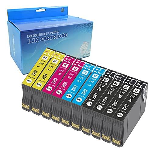 Teng 10X 29XL Cartuchos de Tinta para Epson 29 XL Compatible con Epson Expression Home XP-235 XP-245 XP-247 XP-255 XP-332 XP-335 XP-345 XP-352 XP-355 XP-432 XP-442 XP-445 XP-452 XP352
