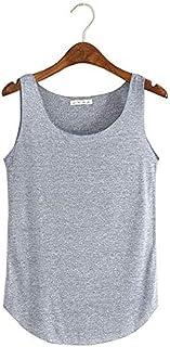 Women Sleeveless T-Shirt Vest Top, Loose Vest Singlets Tank Top Sports Vest Super Soft Tank Top Vest Crop Top