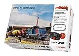 Märklin-∙ Starter Pack Digitale Treno Merci Svedese Epoche 6, Scala H0, Molte funzioni sonore, con Stazione Mobile e binari a C, 029468
