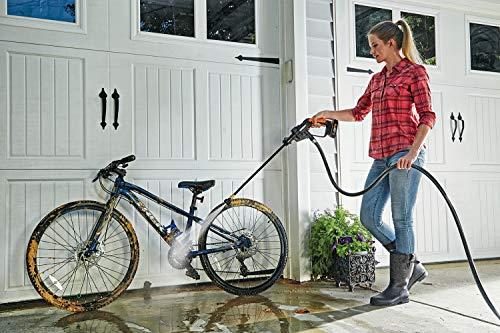 WORX 20V Mobiler Akku-Hochdruckreiniger Hydroshot WG625E.1, 2x2.0Ah Akkus, PowerShare, Bewässerung, Reinigung & Desinfektion, 1 Std. Ladegerät, 5-in-1 Sprühdüse, 6m Schlauch, faltbarer Wassereimer,18V - 6