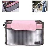 Bolsa para cochecito, accesorios para cochecito - bolso organizador para carrito mano bolsa para pañales, almacenamiento impermeable para ganchos fijos, adecuado para almacenar productos para bebés