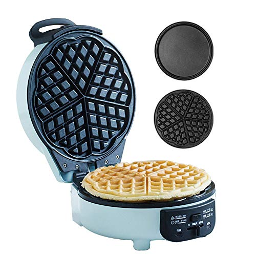 Aprilhp Mini Gofres Maquina Profesional Waffle Maker, Grill Plancha con Placas Desmontables...