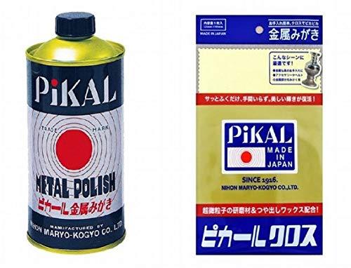 日本磨料工業 ピカール 金属磨き 300g + 専用クロスセット1枚 388-457