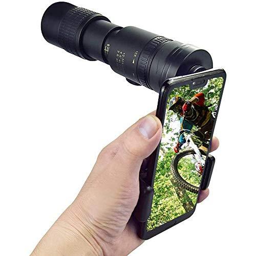 Telescopio monocular con zoom 4K 10-300x40mm Telescopio monocular portátil monocular impermeable antivaho para la visión nocturna para la caza, el camping, los viajes y las excursiones