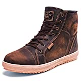 Indie Ridge Full Leather Motorcycle Boots for Men - The Comanche - The Phoenix Boot Collection (Men's 10.5)
