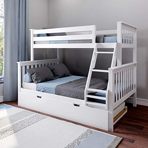 Max & Lily Twin Over Full Bunk Bed with Trundle