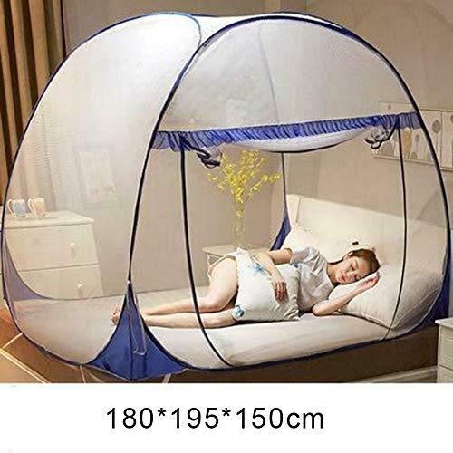 JHCHA Moskitonetz zum Aufklappen, Netz-Zelt, für drinnen und draußen, für den Garten, blau, 180*195*150cm