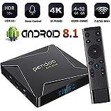 Pendoo X10 Plus Android TV Box 8.1 Amlogic S905X2 4GB DDR4 32GB eMMC, Android TV Box 4K Ultra HD, Android Box with Voice Remote