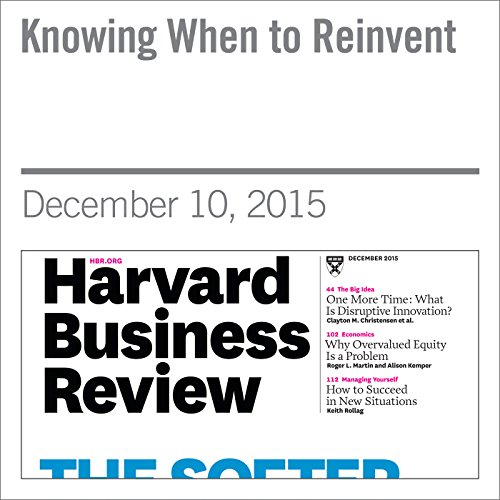 Knowing When to Reinvent                   By:                                                                                                                                 Mark Bertolini,                                                                                        David Duncan,                                                                                        Andrew Waldeck                               Narrated by:                                                                                                                                 Todd Mundt                      Length: 29 mins     Not rated yet     Overall 0.0