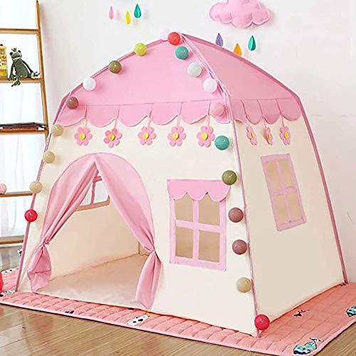 WLDOCA Kinder-Spielzelt Burg Große Teepee Zelt für Kinder Prinzessin Schloss Spielzelt Oxford Stoff Kinderspielhaus für Indoor Outdoor mit Tragetasche Tragbarer Playhouse-Mädchen-Geburtstags-Geschenk