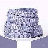 1pair 120/130/140/160CM Shoelaces Pink Sport Travel Shoelace Classic Jelly Color Flat Polyester Shoe Laces Girls Blue Shoelace,Purple,120CM