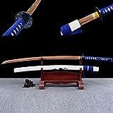 Katana hecha a mano de 103 cm,con vaina de madera maciza,Bokken de madera para práctica de kendo,espada samurái de palisandro natural para actuaciones de artes marciales,fiestas temáticas,cosplay