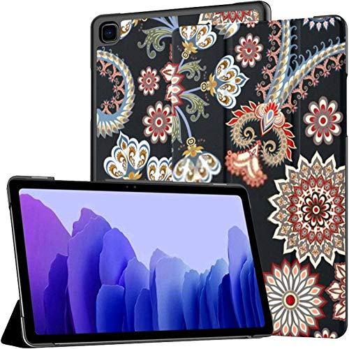 Funda para Tableta Samsung A7 Patrón de Contraste sin Costuras Mandala Blue Paisley Funda para Samsung Galaxy Tab A7 10.4 Pulgadas Funda Protectora de liberación 2020 Funda Samsung Galaxy A7 Funda pa