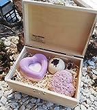 Geschenkbox Rose - handgemachte Rosenseife und -badepraline aus natürlichen Rohstoffen