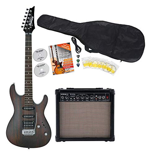 Ibanez GSA60-WNF Starter Set E-Gitarre (Amp, Gigbag, Kabel, Plektren, Gitarrenschule inkl. CD & DVD) Walnut Flat