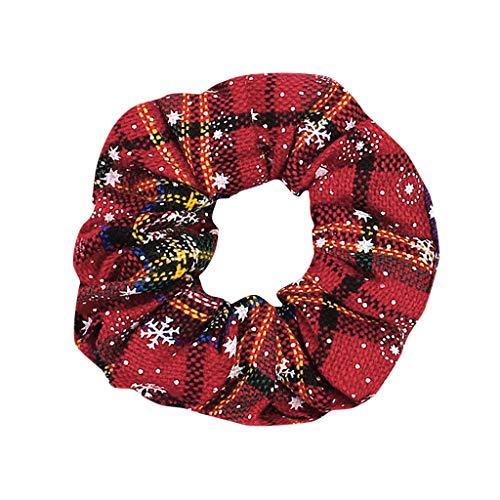 SANFASHION Damen Winter Haare Seil einfarbig Imitation Perle Anhänger Charms Pferdeschwanz Inhaber geometrische Dickdarm Haargummis