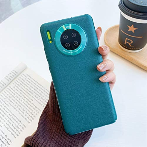 PROTECTIVECOVER+ / for HUAWEI Mate 30 Caja de plástico de piel practicaria pura todo incluido con cubierta de protección de anillo de lentes , Fashion Phone Funda Para Protector ( Color : Green )