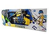 Set Arciere Arco e Frecce con mirino LED Giocattolo Set di Giochi di tiro al Bersaglio con L'Arco per Bambini Blu 3 frecce a Ventosa Regalo Bambino Dimensioni 80cm