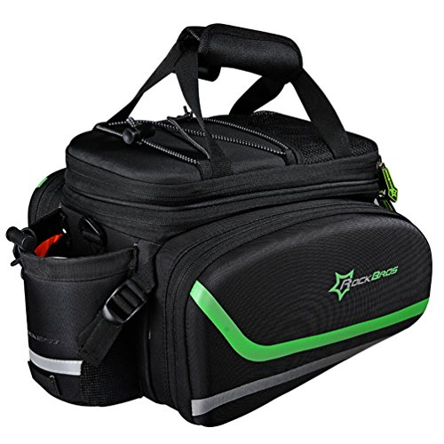 Rock BROS Bike Panniers for Bicycle, Bike Trunk Bag Rear Bike Rack Bag for Travel Bicycle eBike...
